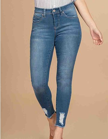 WBB Mid-Rise Distressed Denim Ankle Jean
