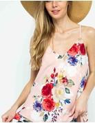 Floral print v-neck cami top