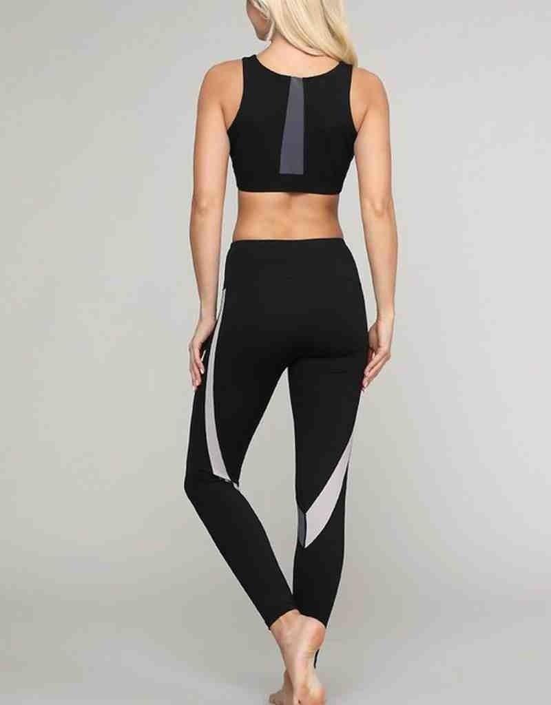 Curved Stripe Sports Bra