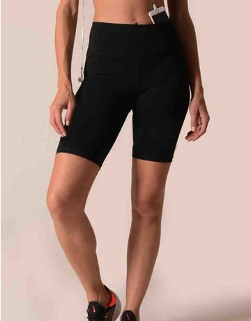 High Rise Matte Bike Shorts