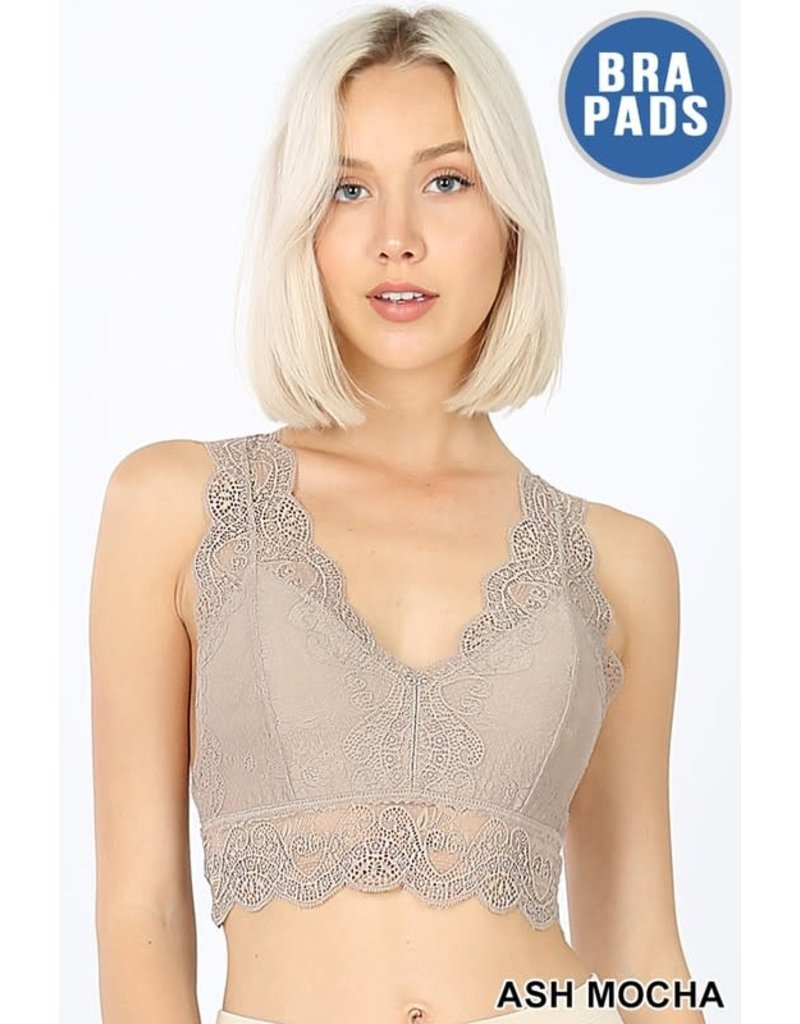 Stretch Lace Padded Bralette
