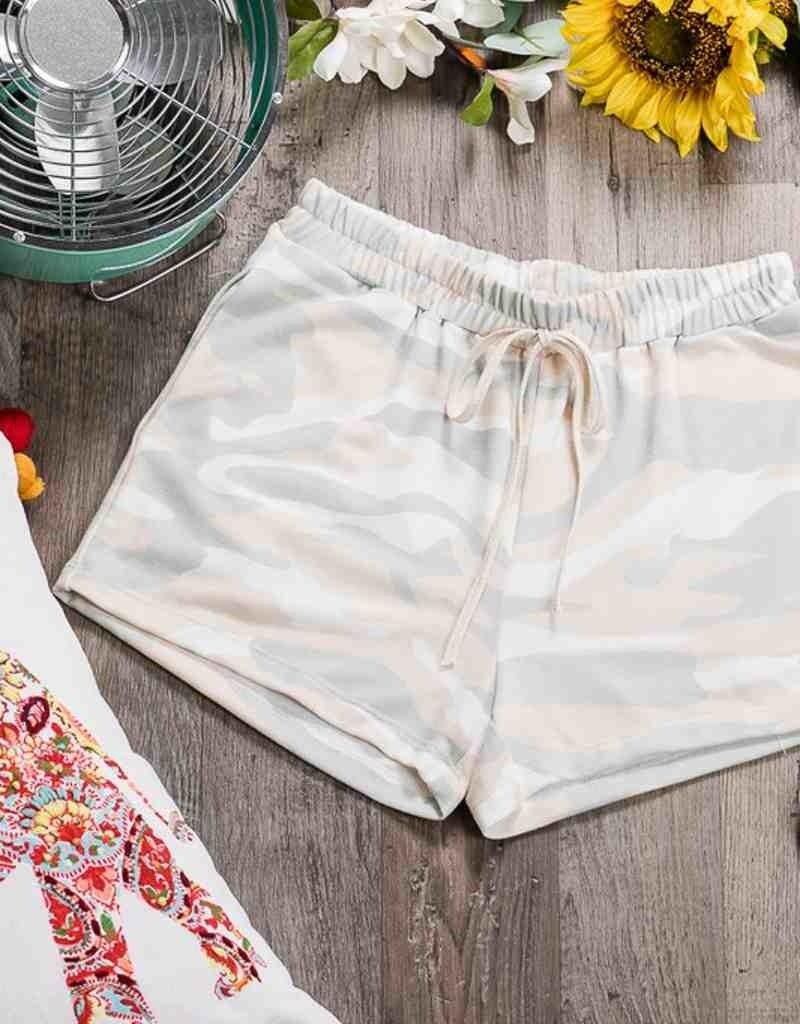 Camo Shorts W/Drawstring