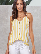 Button Up Striped Cami