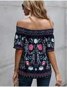 Floral Printed Off The Shoulder Top
