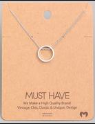 Dainty Circle Pendant Necklace
