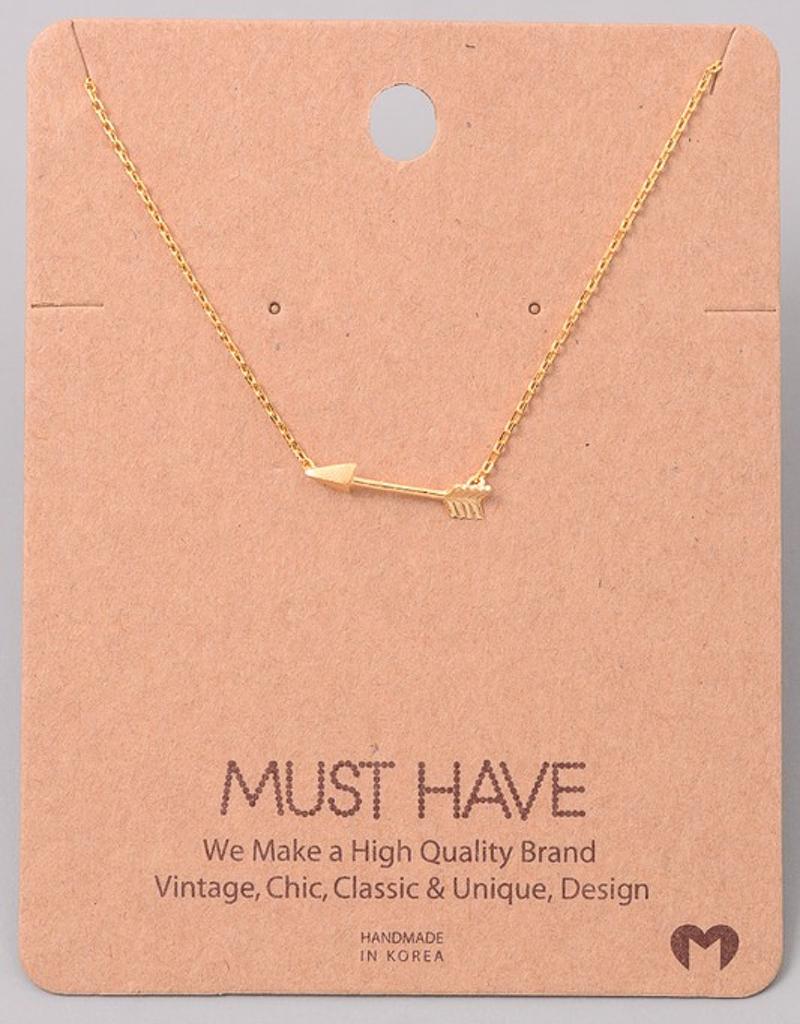 Classic Arrow Pendant Necklace