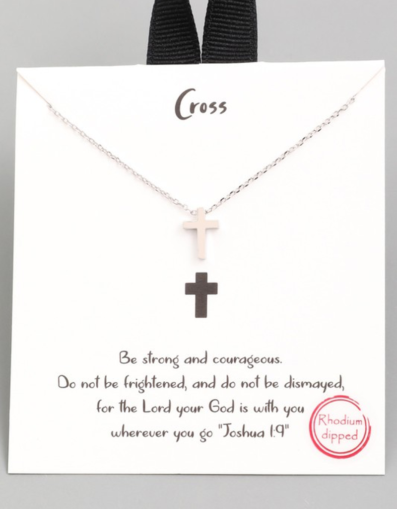 Gold Dipped Mini Cross Necklace