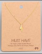 Lightning Pendant Necklace