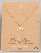 Crescent Moon Pendant Necklace
