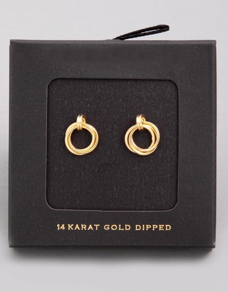 Mini Hoop Knot Stud Earrings