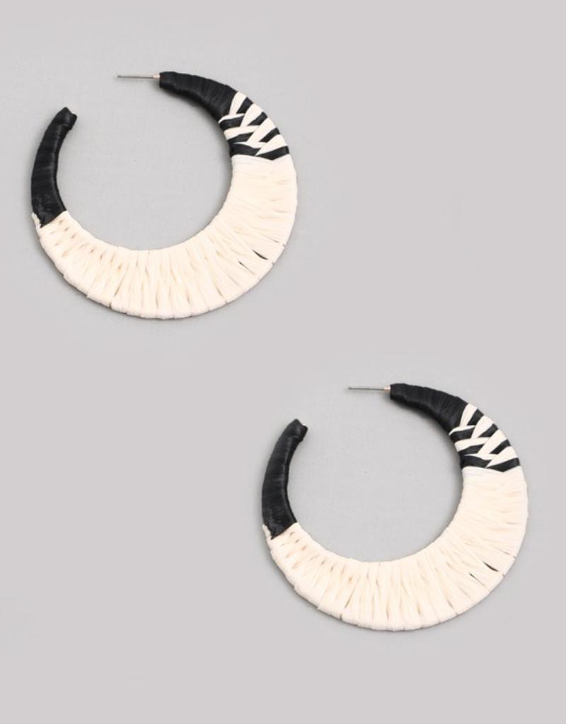 Braided Moon Hoop Earrings