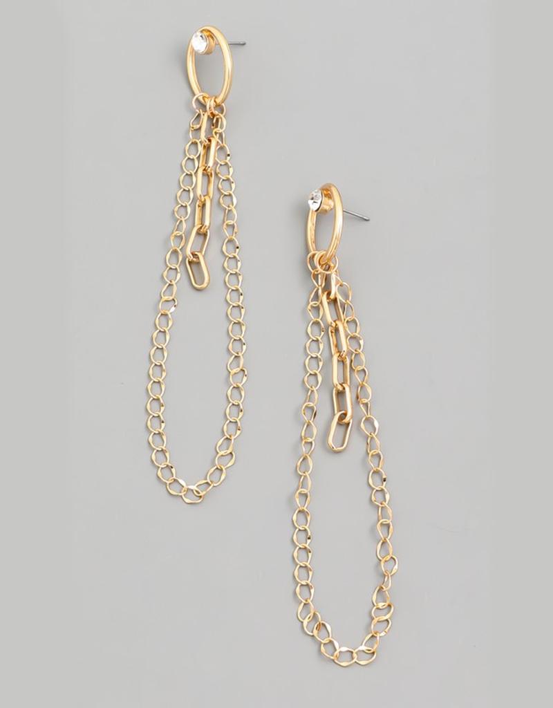 Chain Linked Dangle Earrings