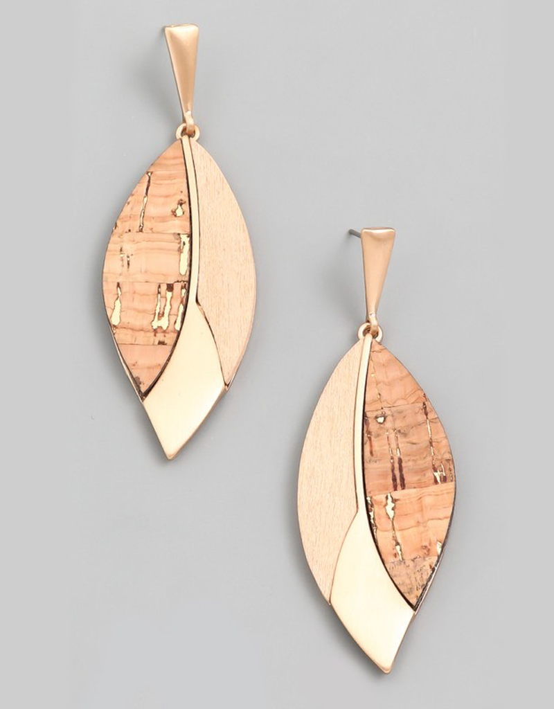 Geo Leaf Drop Earrings