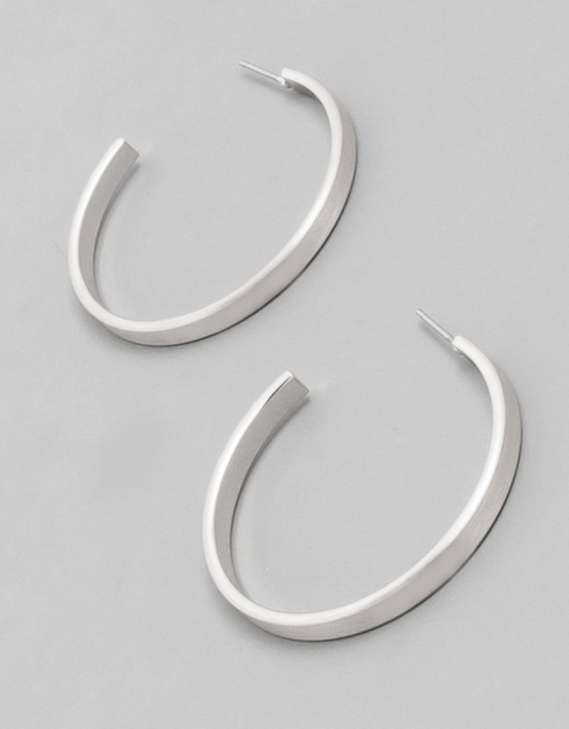 Metallic Open Hoop Earrings