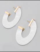 Resin Open Hoop Earrings