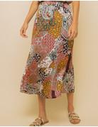 Patchwork Print Long Skirt