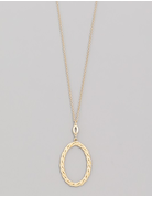 Oval Twist Pendant Necklace