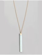 Semicircle Stone Bar Necklace