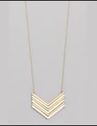 Chevron Pendant Necklace