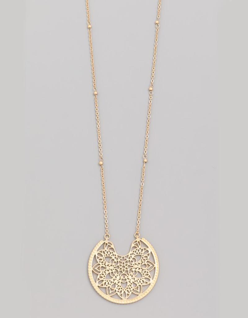 Floral Filigree Necklace