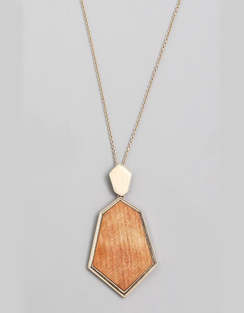 Wooden Geo Shape Necklace