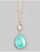 Stone Teardrop Necklace