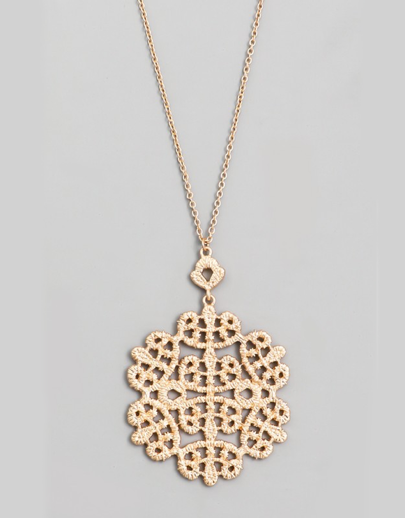 Metallic Snowflake Necklace