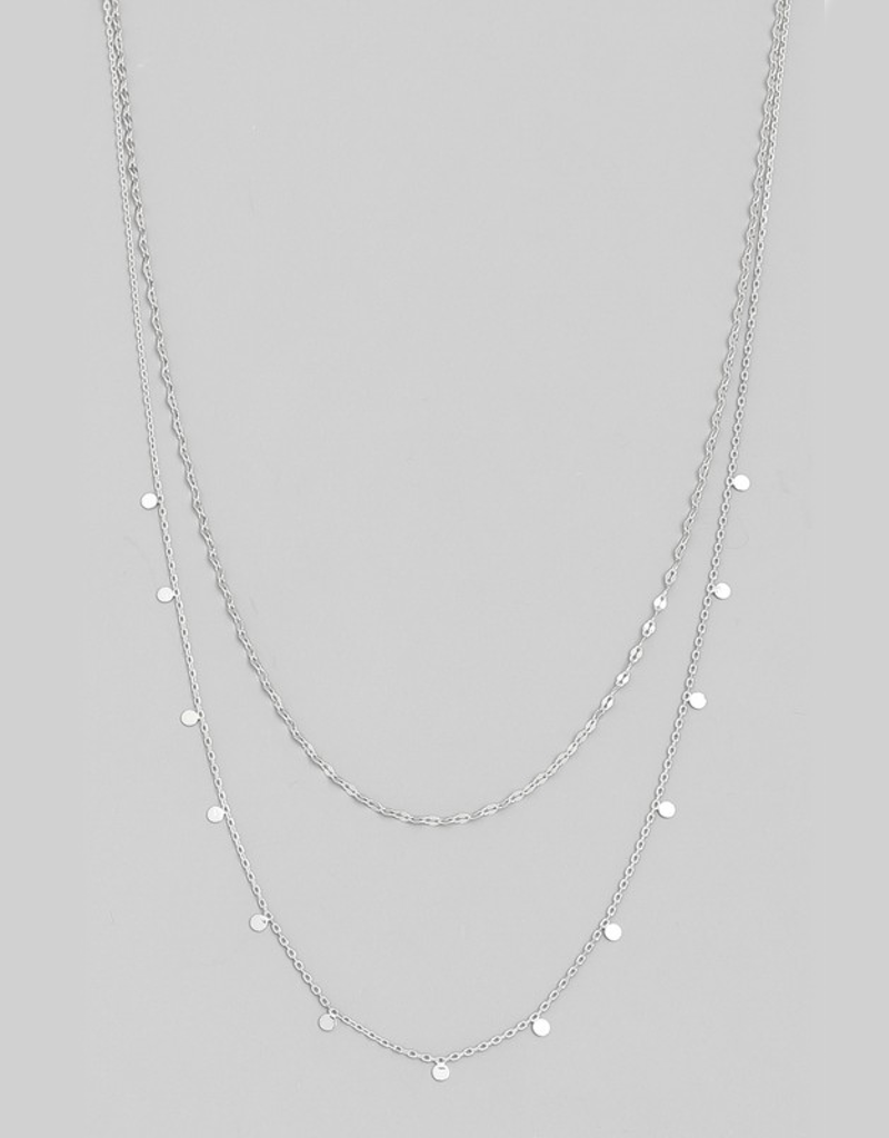 Dainty Layered Coin Choker