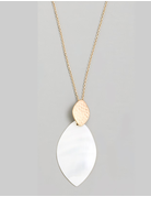 Pointed Oval Necklace