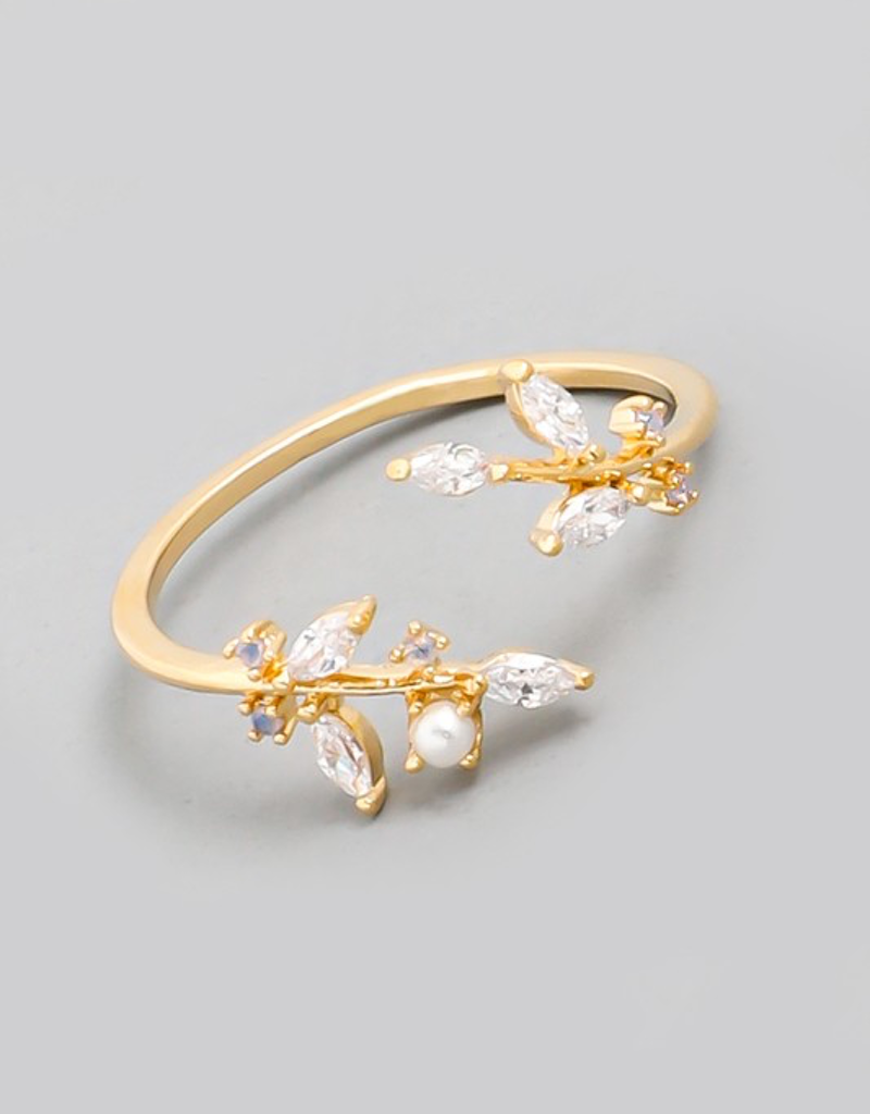 Dainty Opal Rhinestone Ring