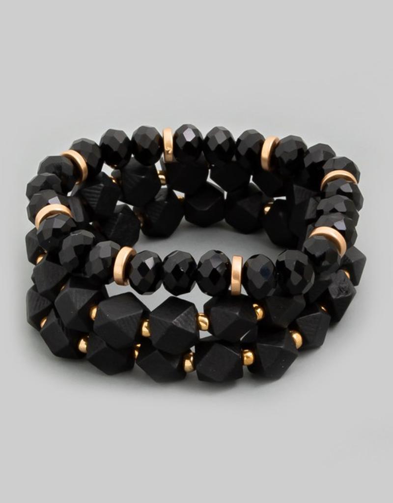 Wooden Bead Bracelet Set