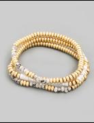 Thin Stone Bead Bracelet Set