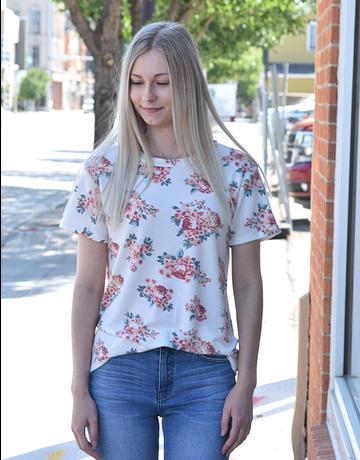 Vintage Floral Short Sleeve Top
