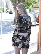 Camouflage Knit Shorts