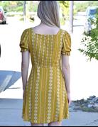 Printed Puffy Sleeve Dress