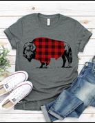 Plaid Buffalo Graphic Tee
