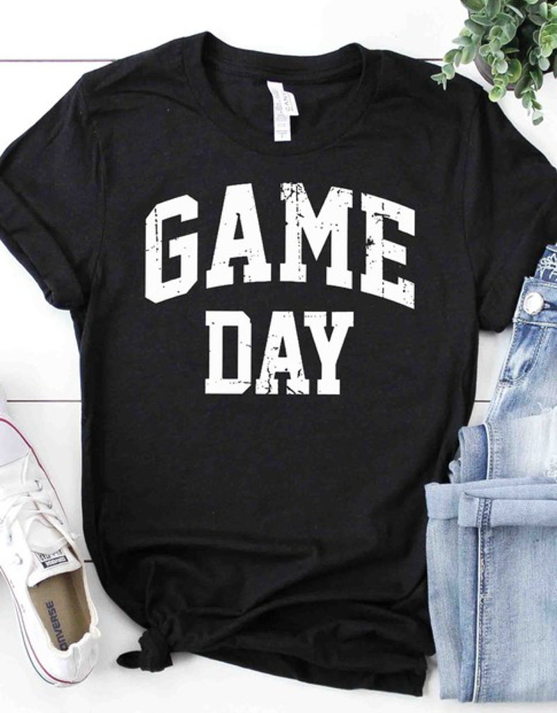 Distressed Game Day Graphic Tee - 2 Colors