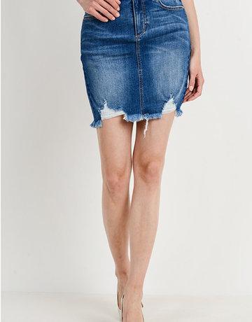 Mid Rise Pencil Skirt