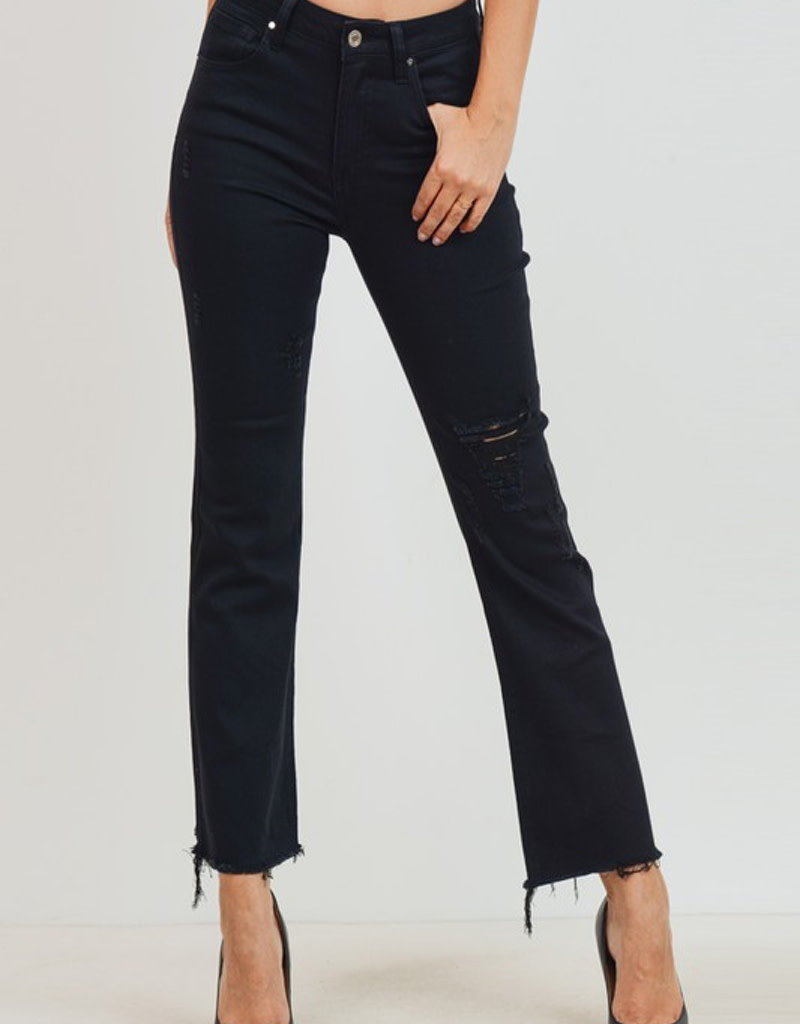 Mid Rise Cropped Flare Denim
