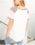 Leopard Solid Knit Top