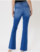 High Rise 2 Button Frayed Flares