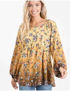 Floral Ombre Mix Baby Doll Top