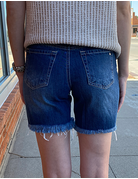 Destructed Mom Fit Frayed Short
