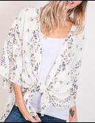 Open Floral Tie Cardigan