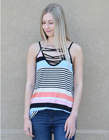 Multi Color Variegated Stripe Cami