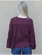 Bell Sleeves Tiered Knit Top