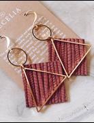 Diamond Hoop Leather Earrings