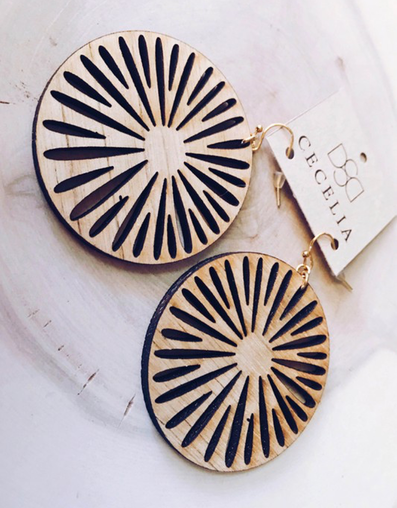 Round Wood Earrings
