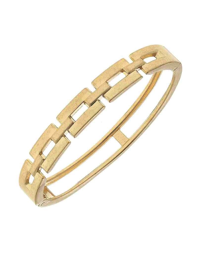Quinn Chain Link Hinge Bangle