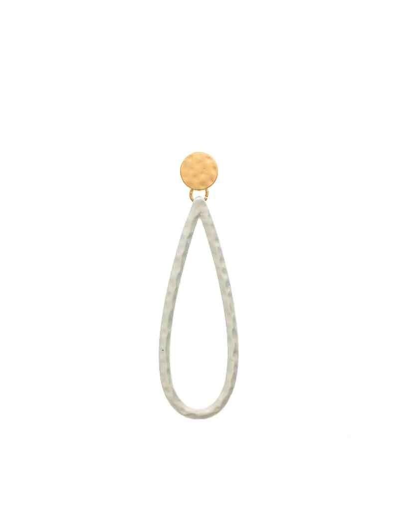 2-Tone Long Drop Earrings